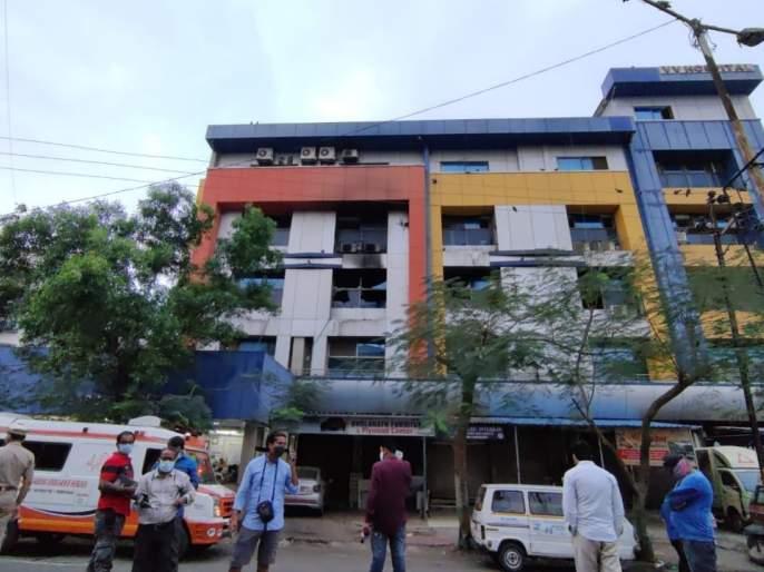 Virar Hospital Fire Live Updates: 13 people have died in a fire that broke out at Vijay Vallabh COVID care hospital in Virar, early morning today   Virar Hospital Fire Live Updates : विरारमधील कोविड सेंटरला आग, 13 रुग्णांचा मृत्यू; मृतांच्या नातेवाईकांना 5 लाखांची मदत, मुख्यमंत्र्यांची घोषणा