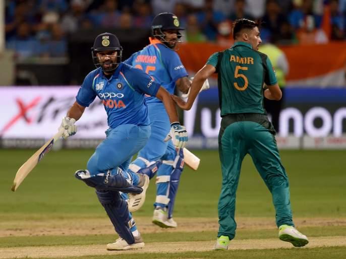India vs Pakistan Live Score Updates Of Asia Cup 2018 : Pakistan won the toss and bat first against India   India vs Pakistan : भारतापुढे पाकिस्तानचं लोटांगण; भुवनेश्वर कुमार सामनावीर