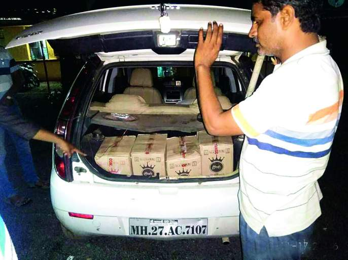 Five lakh liquor stores seized | पाच लाखांचा मद्यसाठा जप्त