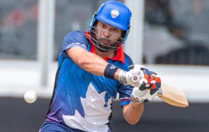 Yuvraj Singh's batting fireworks in the global T20 league | युवीची बल्ले बल्ले! ग्लोबल टी-20 लीगमध्ये केली षटकारांची आतिषबाजी