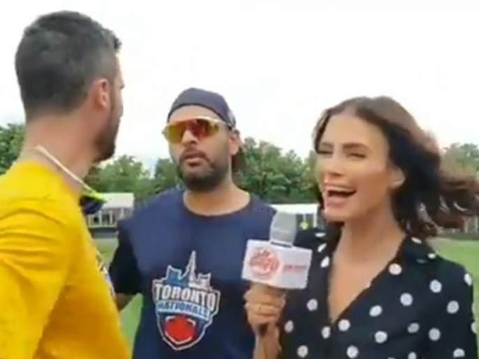 Erin Holland blames Yuvraj Singh after a fan questions about her wedding with Ben Cutting   चाहत्यानं प्रश्न विचारला अन् तिनं युवराज सिंगवर फोडलं खापर, नेमकं झालं तरी काय?