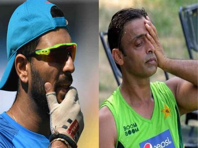 Yuvraj Singh takes a dig at Shoaib Akhtar for criticising Jofra Archer after bouncer to Steve Smith | युवराज सिंगनं घेतली शोएब अख्तरची फिरकी; म्हणाला...