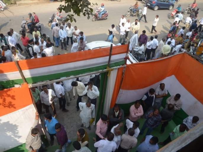 Nagpur ZP Election: Demonstrate the power of aspirants for congress nomination   नागपूर जि. प. निवडणूक : काँग्रेसच्या उमेदवारीसाठी इच्छुकांचे शक्तिप्रदर्शन
