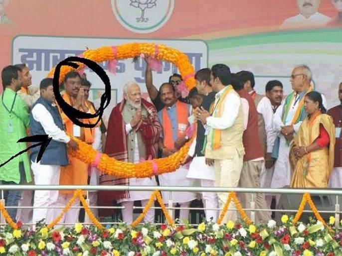 BJP's ticket to accused of murderer in jharkhand, Share stage with PM Modi | महिलेच्या खुनातील आरोपी मोदींच्या मंचावर, भाजपाकडून विधानसभेचं तिकीट