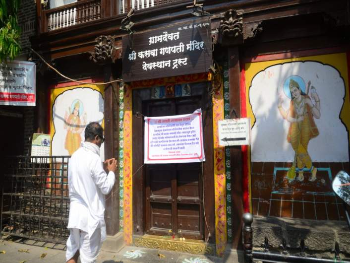 Kasba Ganpati during Coronavirus shutdown
