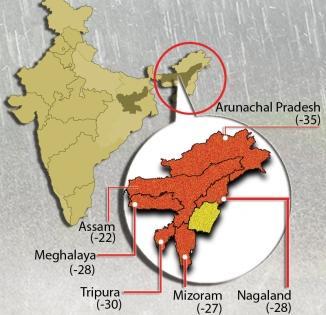NE states, especially Assam and Arunachal, receive deficient rain | NE states, especially Assam and Arunachal, receive deficient rain