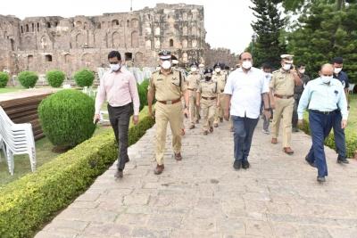 Telangana CS reviews arrangements for I-Day celebrations at Golconda Fort | Telangana CS reviews arrangements for I-Day celebrations at Golconda Fort