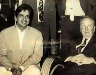 Sudhir Mishra shares photo of Dilip Kumar with Alfred Hitchcock | Sudhir Mishra shares photo of Dilip Kumar with Alfred Hitchcock