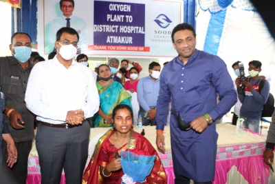 Andhra minister inaugurates O2 plant funded by Sonu Sood | Andhra minister inaugurates O2 plant funded by Sonu Sood