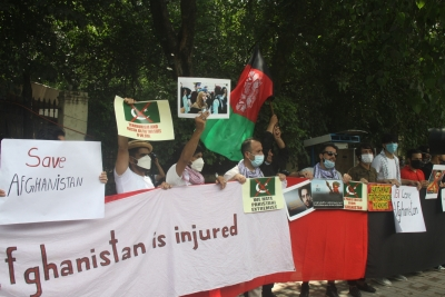 Afghans stage 2nd protest against Pakistan in Delhi | Afghans stage 2nd protest against Pakistan in Delhi