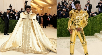 Met Gala 2021: Lil Nas X dons three Versace looks in one | Met Gala 2021: Lil Nas X dons three Versace looks in one
