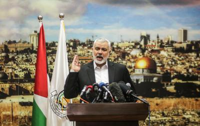Hamas re-elects Haniyeh as politburo chief for new term   Hamas re-elects Haniyeh as politburo chief for new term