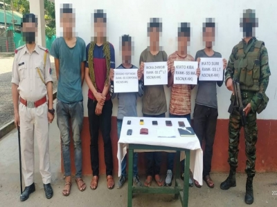 5 NSCN cadres held with arms, two hostages rescued | 5 NSCN cadres held with arms, two hostages rescued