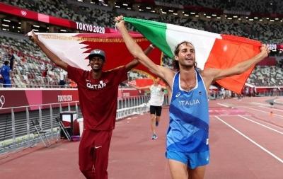 Olympics: Italian and Qatari say no to jump-off, share high jump gold | Olympics: Italian and Qatari say no to jump-off, share high jump gold