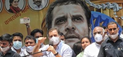 Rahul Gandhi joins IYC's 'Sansad Gherao' stir   Rahul Gandhi joins IYC's 'Sansad Gherao' stir