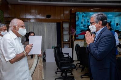 Yediyurappa unveils 56-bed ICU in B'luru hospital for Covid care | Yediyurappa unveils 56-bed ICU in B'luru hospital for Covid care