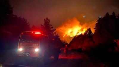 Massive wildfire erupts in Turkey   Massive wildfire erupts in Turkey