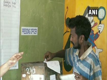 81.67 pc polling recorded in second phase of Gram Panchayat in AP | 81.67 pc polling recorded in second phase of Gram Panchayat in AP