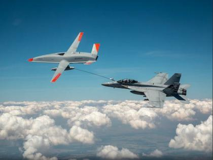 In a first, US Navy refuels aircraft using unmanned drone | In a first, US Navy refuels aircraft using unmanned drone