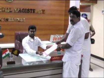 Tamil Nadu Assembly polls: BJP's Nainar Nagendran files nomination from Tirunelveli | Tamil Nadu Assembly polls: BJP's Nainar Nagendran files nomination from Tirunelveli
