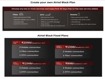 Airtel launches all-in-one plan for fiber, DTH, mobile services   Airtel launches all-in-one plan for fiber, DTH, mobile services