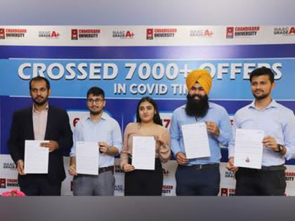 Chandigarh University beats its own record in campus placements; Registers 7412 offers by 757 multinationals for 2021 batch during pandemic   Chandigarh University beats its own record in campus placements; Registers 7412 offers by 757 multinationals for 2021 batch during pandemic