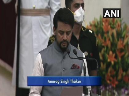 Anurag Thakur elevated to Cabinet minister, given charge of Sports, I&B   Anurag Thakur elevated to Cabinet minister, given charge of Sports, I&B