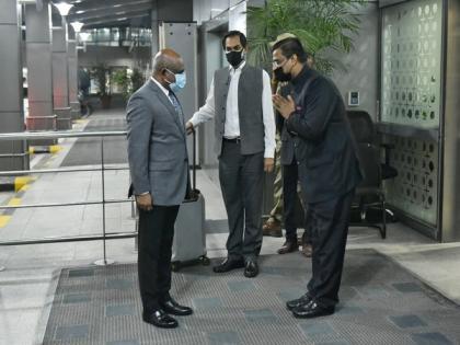 Maldives FM Abdulla Shahid arrives in India   Maldives FM Abdulla Shahid arrives in India