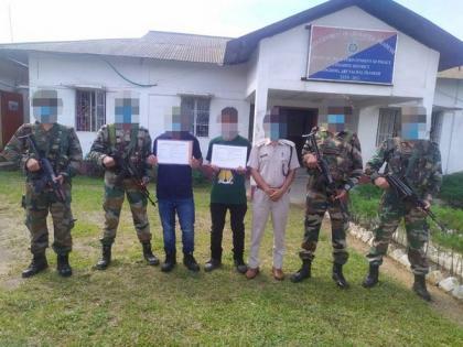 2 active NSNC cadres surrender to Assam Rifles in Arunachal's Longding | 2 active NSNC cadres surrender to Assam Rifles in Arunachal's Longding