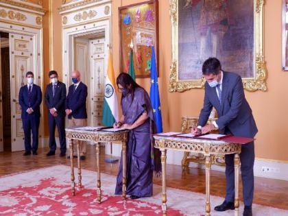 Lekhi meets Portugal's Secretary of State for International Affairs, signs agreement on recruiting Indians to work in Portugal   Lekhi meets Portugal's Secretary of State for International Affairs, signs agreement on recruiting Indians to work in Portugal