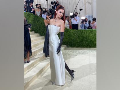 Gigi Hadid attends Met Gala 2021 in monochrome dress   Gigi Hadid attends Met Gala 2021 in monochrome dress