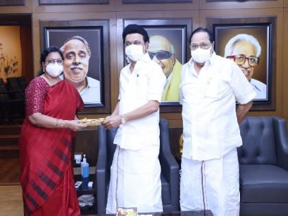 DMK nominates Kanimozhi NVN Somu, KRN Rajeshkumar for Rajya Sabha bypoll   DMK nominates Kanimozhi NVN Somu, KRN Rajeshkumar for Rajya Sabha bypoll
