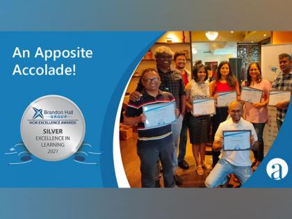 Apposite wins the coveted Brandon Hall Group Silver Award for excellence in learning   Apposite wins the coveted Brandon Hall Group Silver Award for excellence in learning