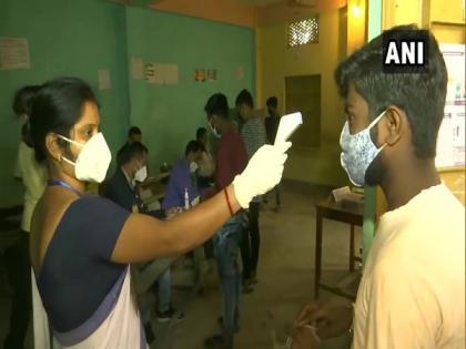 Assam polls: COVID-19 safety protocols followed at polling booths   Assam polls: COVID-19 safety protocols followed at polling booths