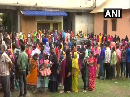 Voting temporarily halted due to EVM malfunction in Assam's Silchar, Nagaon | Voting temporarily halted due to EVM malfunction in Assam's Silchar, Nagaon