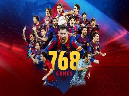 Messi surpasses Xavi's Barcelona appearance record | Messi surpasses Xavi's Barcelona appearance record