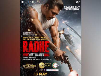 Salman Khan's 'Radhe' confirmed for multiple platforms release on Eid, trailer to unveil tomorrow | Salman Khan's 'Radhe' confirmed for multiple platforms release on Eid, trailer to unveil tomorrow