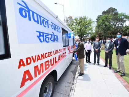 India gifts 39 ambulances, 6 school buses to Nepal   India gifts 39 ambulances, 6 school buses to Nepal