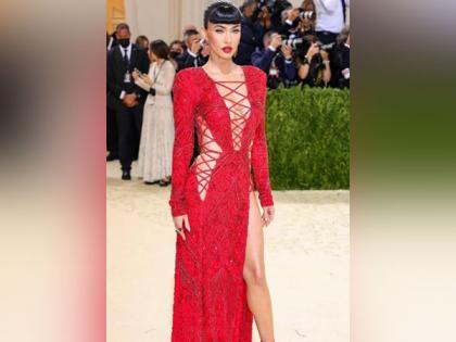 Megan Fox rocks gorgeous red gown at Met Gala 2021 | Megan Fox rocks gorgeous red gown at Met Gala 2021