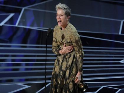 Oscars 2021: Frances McDormand wins Best Actress Academy Award for 'Nomadland'   Oscars 2021: Frances McDormand wins Best Actress Academy Award for 'Nomadland'