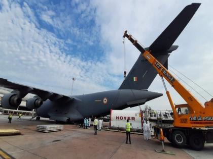 COVID-19: IAF airlifts oxygen containers from Singapore, Bangkok to Panagarh in Bengal   COVID-19: IAF airlifts oxygen containers from Singapore, Bangkok to Panagarh in Bengal