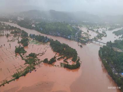 IAF carries out flood relief operations in Maharashtra's Ratnagiri | IAF carries out flood relief operations in Maharashtra's Ratnagiri