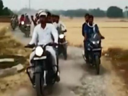 UP panchayat poll winner booked for taking out victory procession, playing Pakistani song   UP panchayat poll winner booked for taking out victory procession, playing Pakistani song