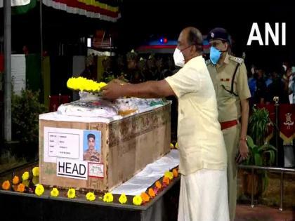 Mortal remains of Sepoy Vaisakh H reach Thiruvananthapuram | Mortal remains of Sepoy Vaisakh H reach Thiruvananthapuram