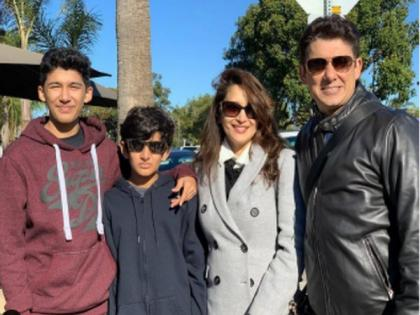 Madhuri Dixit says she is missing her 'boys' on International Men's Day | Madhuri Dixit says she is missing her 'boys' on International Men's Day