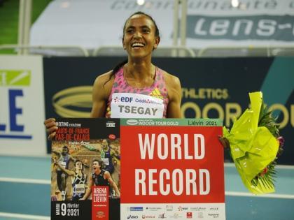 Gudaf Tsegay breaks world indoor 1500m record in Lievin | Gudaf Tsegay breaks world indoor 1500m record in Lievin