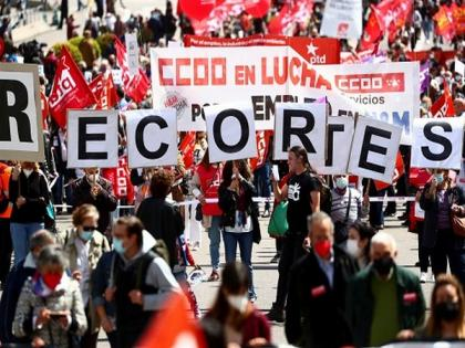 About 100,000 people gather for union rallies in Spain on International Workers' Day | About 100,000 people gather for union rallies in Spain on International Workers' Day