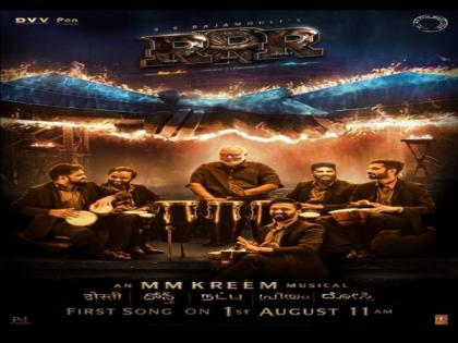 Theme song 'Dosti' from 'RRR' to release in August   Theme song 'Dosti' from 'RRR' to release in August