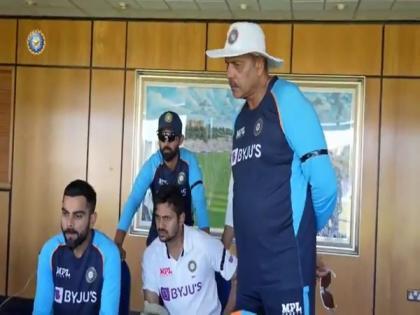 Kohli and boys cheer for Dhawan-led team India during win against Lanka   Kohli and boys cheer for Dhawan-led team India during win against Lanka