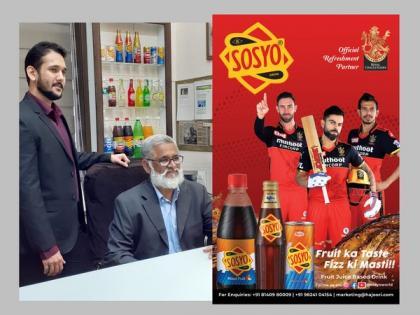 Sosyo Hajoori Beverages Pvt. Ltd's100 year-old flagship product Sosyo partners with Royal Challengers Bangalore   Sosyo Hajoori Beverages Pvt. Ltd's100 year-old flagship product Sosyo partners with Royal Challengers Bangalore